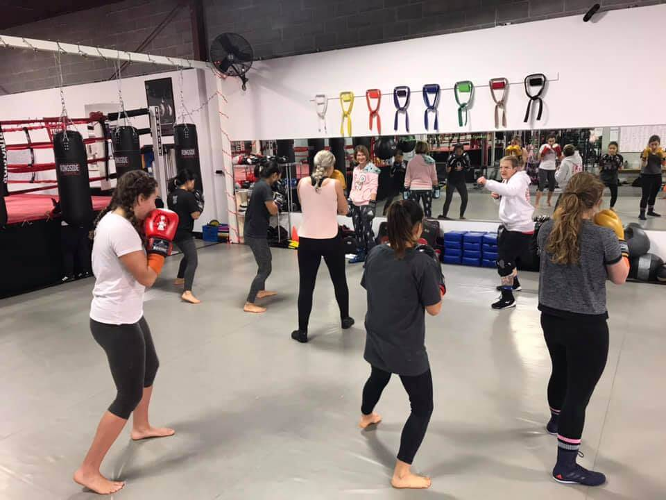 Group class at Austin Boxing Babes