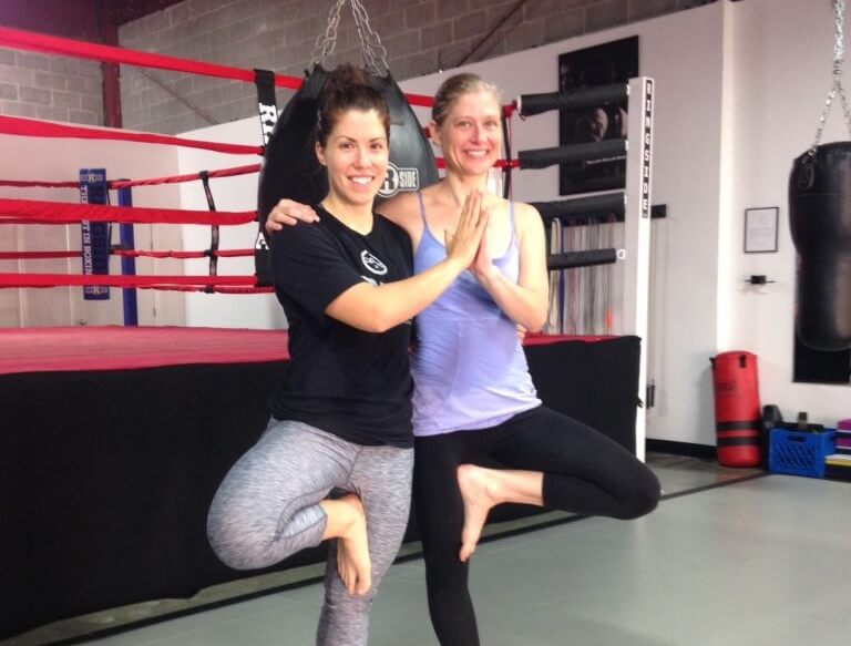 Yoga Tree Pose with our Instructor